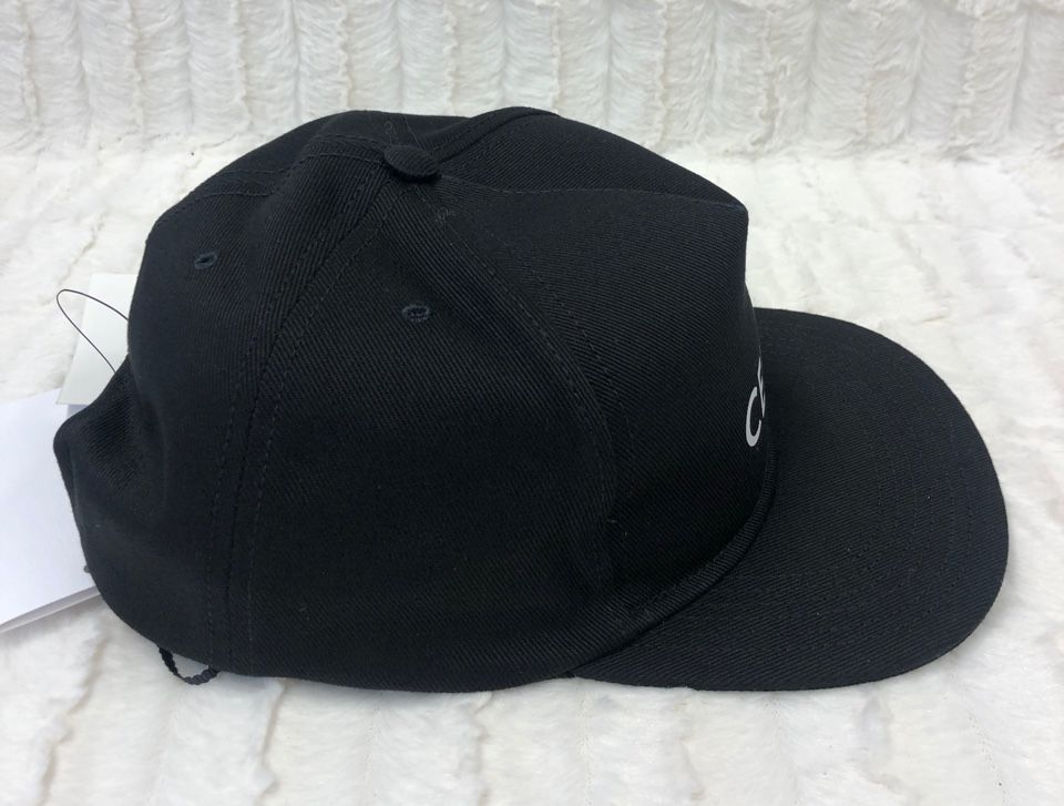 CELINE HOMME Logo-Print Cotton-Twill Baseball Cap Black 560971903940352