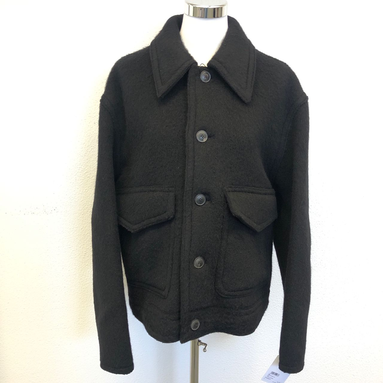 AMI Double-patch pocket wool jacket P00492875