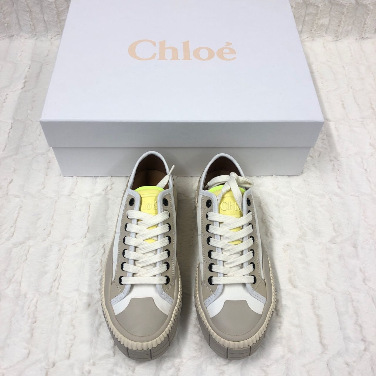 Chloe Clint suede-trimmed sneakers P00432776
